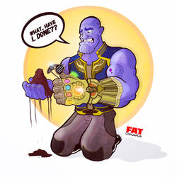 Damnit, Thanos! by Fat-Chihuahua