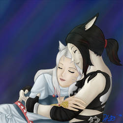 Cuddle Time with the Waifu by Syreia