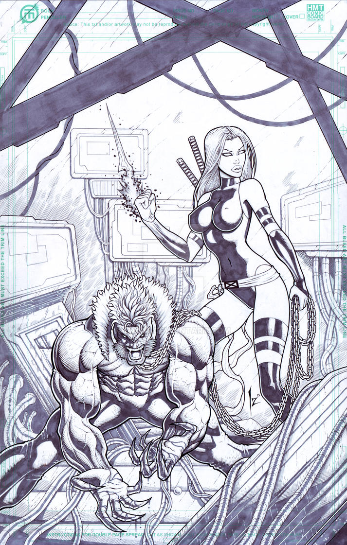 Psylocke Sabretooth by Izik00