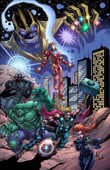 Avengers colors by Jesse Heagy