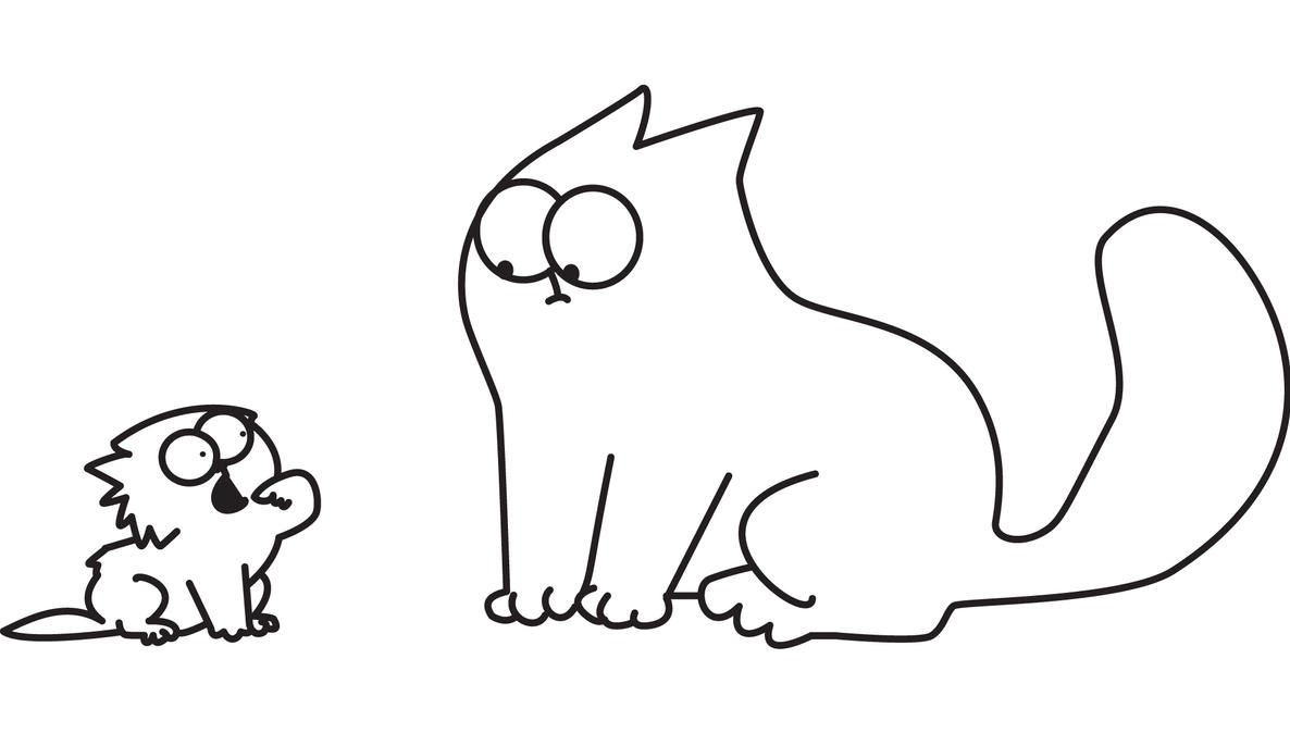 simon cat free coloring pages - photo#7