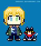 Jayden and  Cake 8 bits by DaneKoi