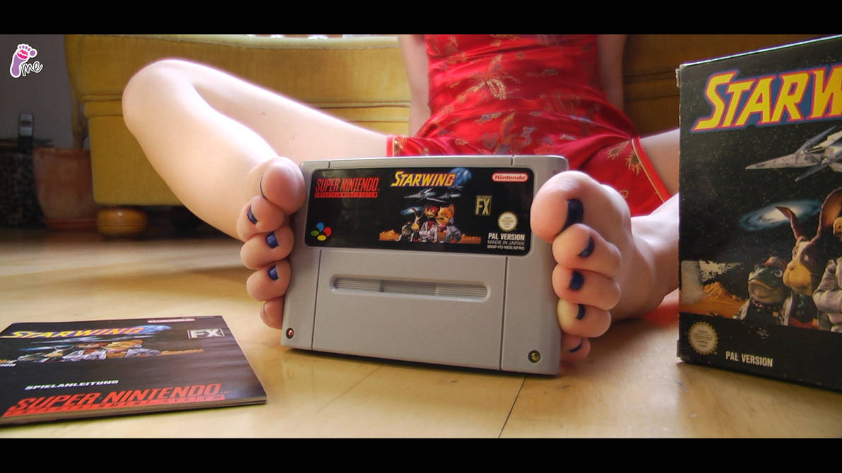 e83de70a3294 Unboxing SNES Game with feet by JelisaRose-Feet on DeviantArt
