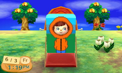 Animal Crossing Face Cut-Out (Kenny) by KittyKansas
