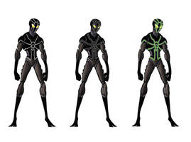 Facsimile Spider-Man - Black Suit/Neon Suit by WhereIDrawTheLine