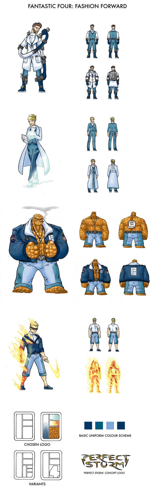 Fantastic Four: Fashion Forward by WhereIDrawTheLine