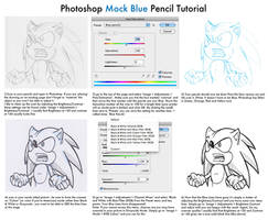Photoshop Mock Blue Pencil Tutorial by WhereIDrawTheLine