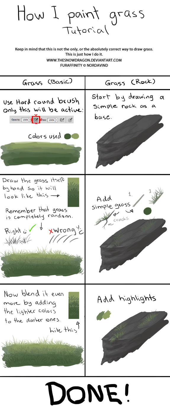 Simple Grass Tutorial by TheSnowDragon