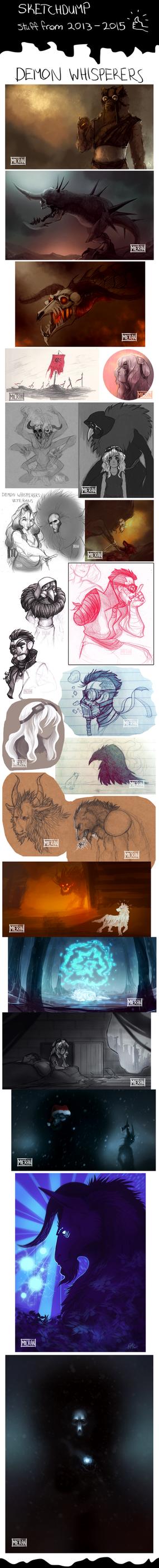 DW Sketchdump 2013-2015 by TheSnowDragon