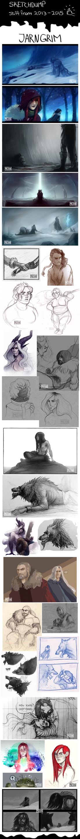 JARNGRIM Sketchdump 2013 - 2015 by TheSnowDragon