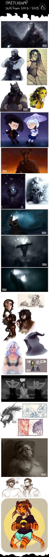 Random Sketchdump 2013 - 2015 by TheSnowDragon