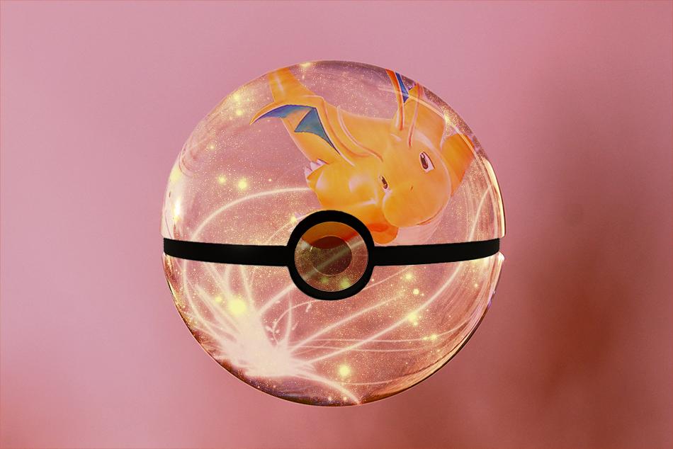 Dragonite pokeball by melphith