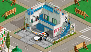 Police station for Pixeldam by NoNoKoHime