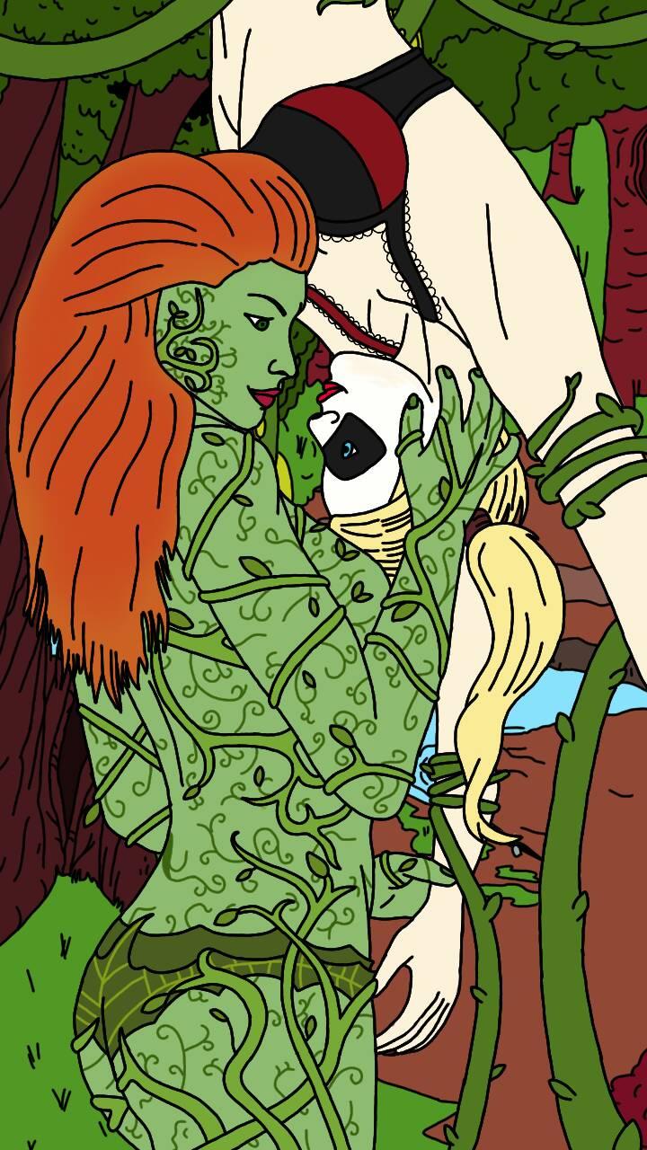Harley Quinn Comic Body Paint