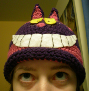 cheshire cat hat by thecosmicfool