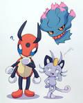 My Pokemon Moon team (so far)