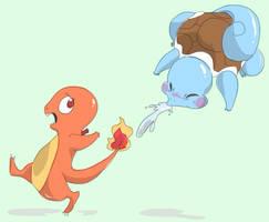 Run charmander run! by evol989