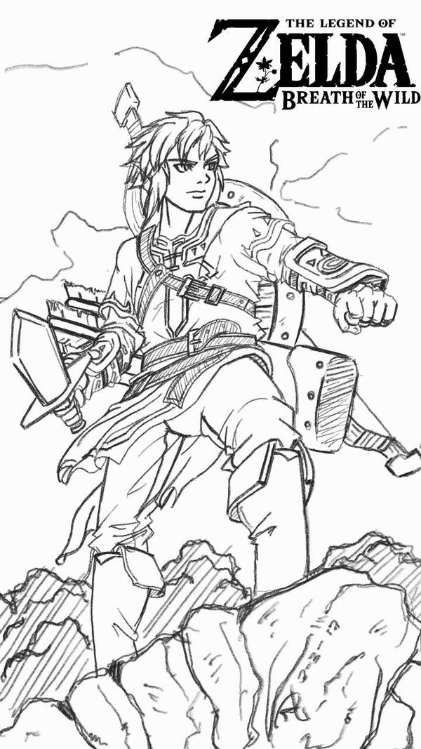 It's just a picture of Decisive breath of the wild coloring pages