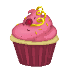 Cranberry Lemonade Cupcake Pixel by Artzygrrl