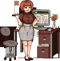 Sassy Secretary by Artzygrrl