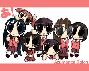 Azumanga Puffed Desktop by RyuV