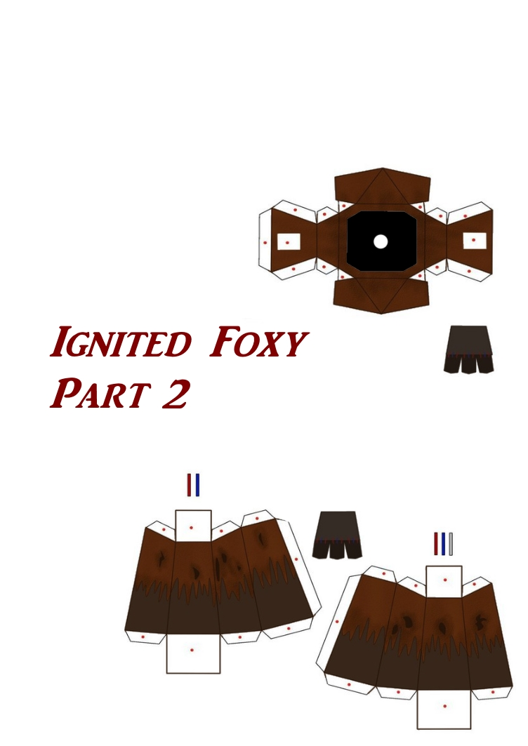 ignited foxy papercraft part 2 by papercraft4you