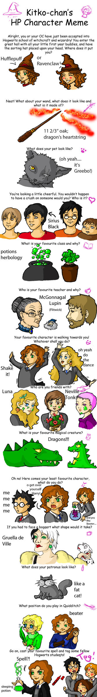 Harry Potter Character Meme by bekkiki