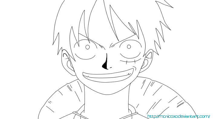 Luffy Lineart : One piece lineart luffy by mcnicoxo on deviantart