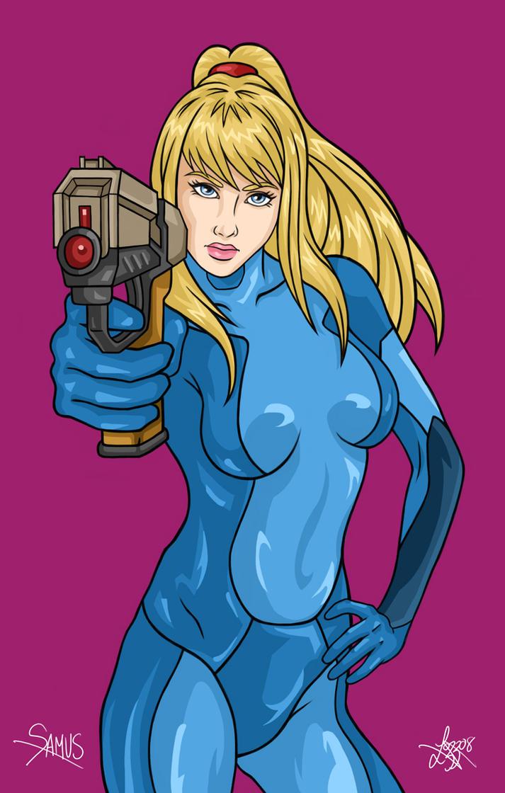Samus: A Girl and Her Gun by bratchny
