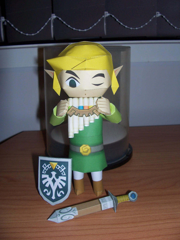 Zelda Spirit Tracks: Link papercraft by bratchny
