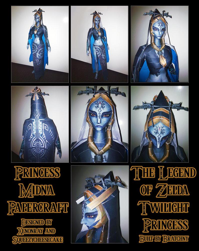 Zelda Twilight Princess: Midna Papercraft by bratchny