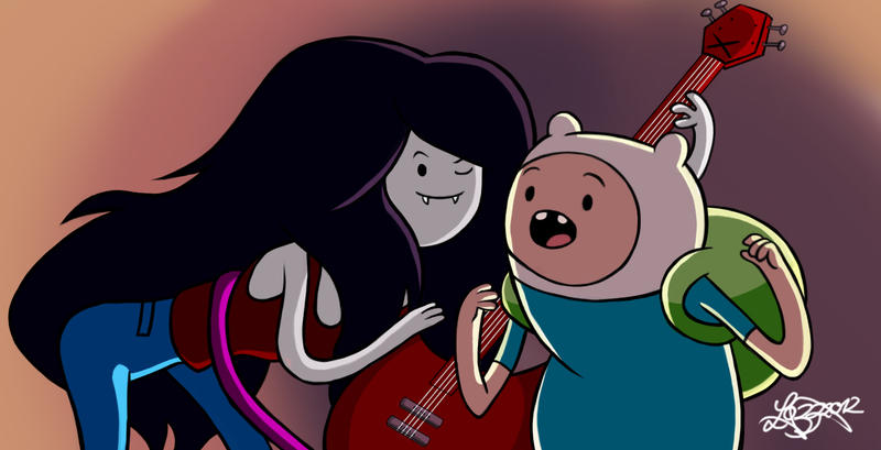 Adventure Time - Marceline and Finn by bratchny on DeviantArt