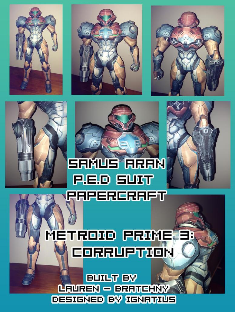 Samus - PED Suit Papercraft by bratchny