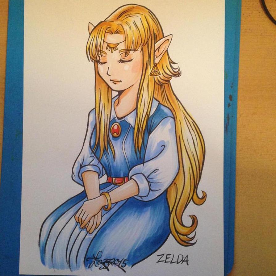 Princess Zelda - A Link to the Past by bratchny