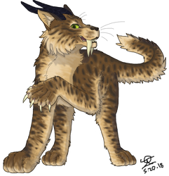 Sabertooth Cat Character - Request by Jazzy-Warrior