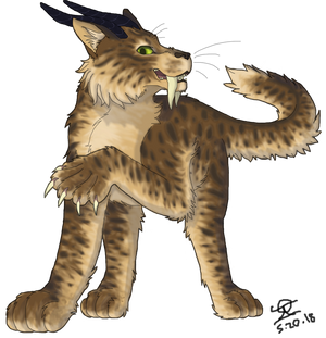 Sabertooth Cat Character - Request