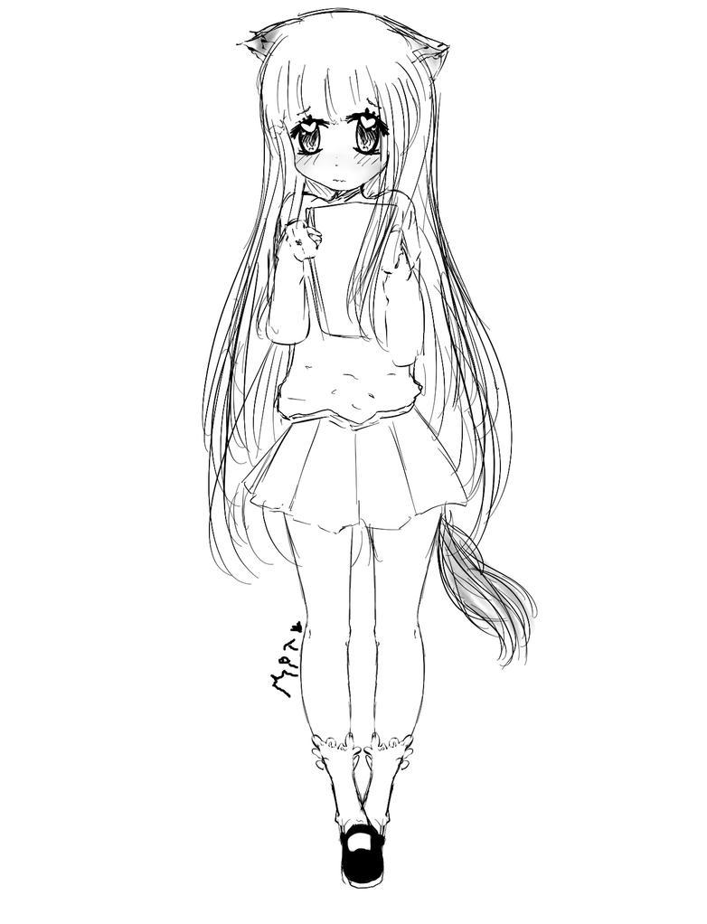 [SKETCH] Naoko. by MitsukoBunny-chan