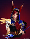 Xayah cosplay progress by Ytka Matilda