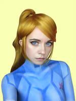 Samus  Body painting cosplay by Ytka Matilda by YtkaMatilda