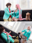 Moka Akashia and Tsukune by Ytka Matilda and Mizer