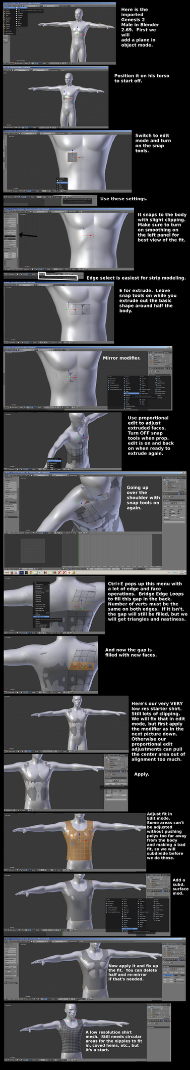 [Tutorial Supplement] Blender 2.69 Strip Modeling by SickleYield