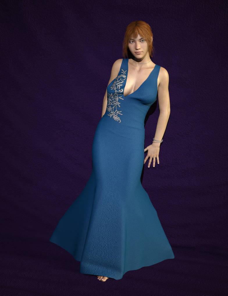 Rovescio Dress V4 On Genesis 8 Female with dForce by SickleYield