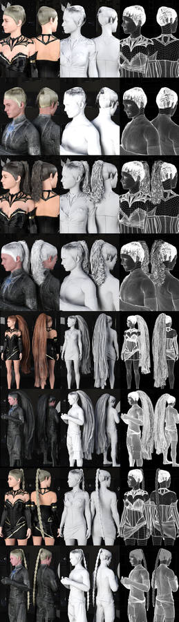 Now Available at ShareCG: SY Hair Pack 01
