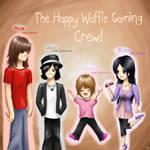 Happy Waffle Gaming Fan art :D by artfreaksue