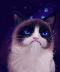 RIP Grumpy Cat by artfreaksue