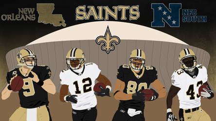 New Orleans Saints Offense Wallpaper by highflyaviator