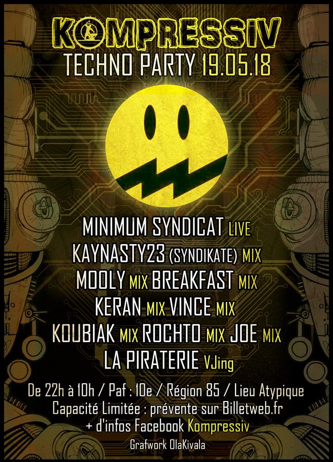 Kompressiv Techno Party 19.05.18 by olakivala