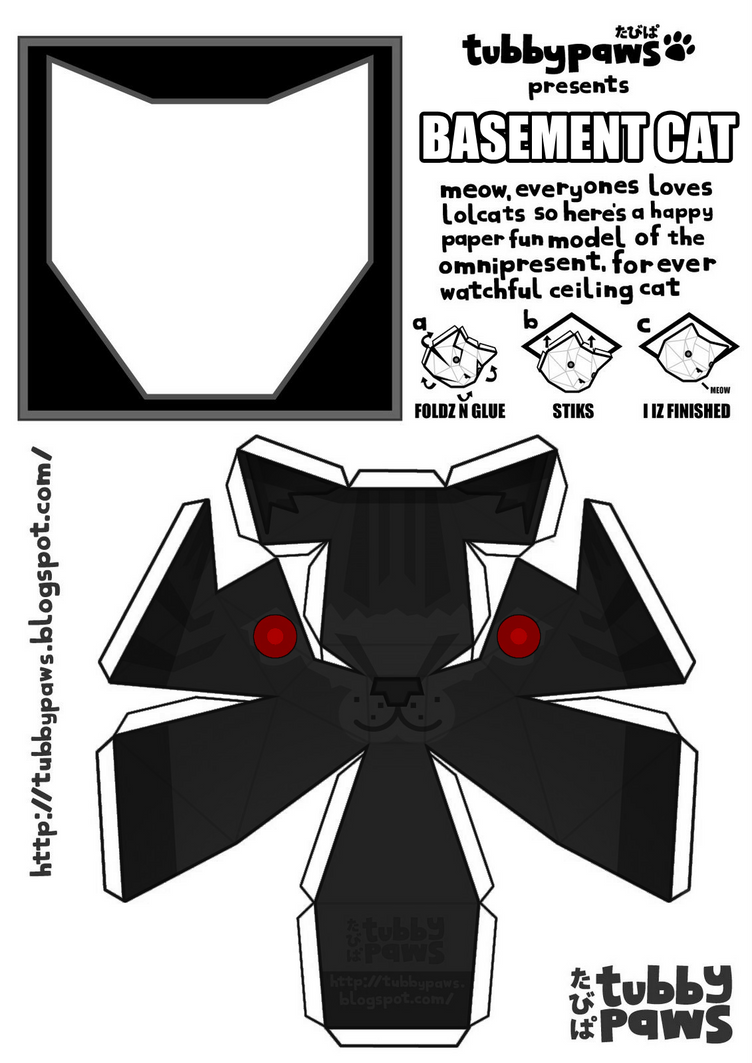 Basement Cat Papercraft by LauraOfTheSand