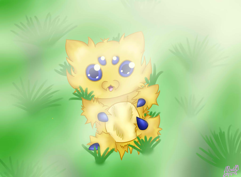 Jasper the Joltik by xela1234
