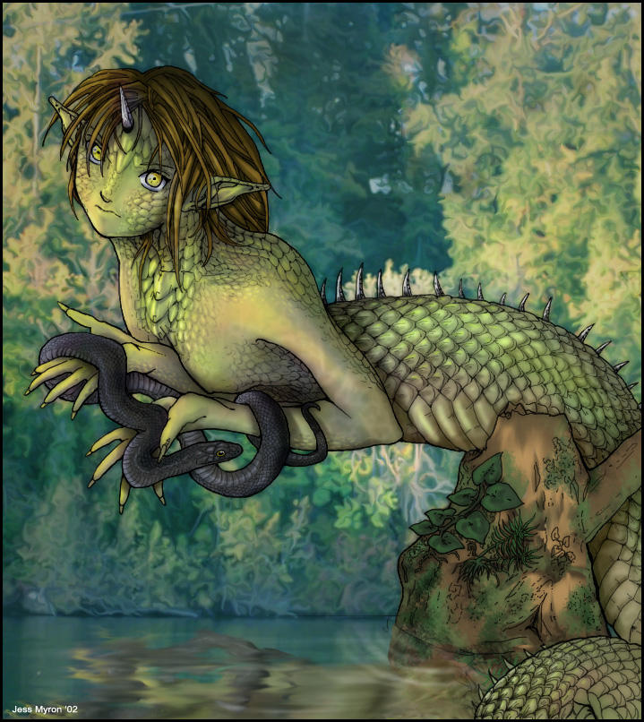 In the swamp color by ADigitalArtist